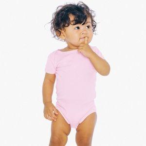 American Apparel pink onesie 6-9 months